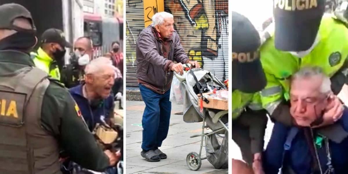 Adulto mayor trabaja vendiendo dulces para mantener a su mamá