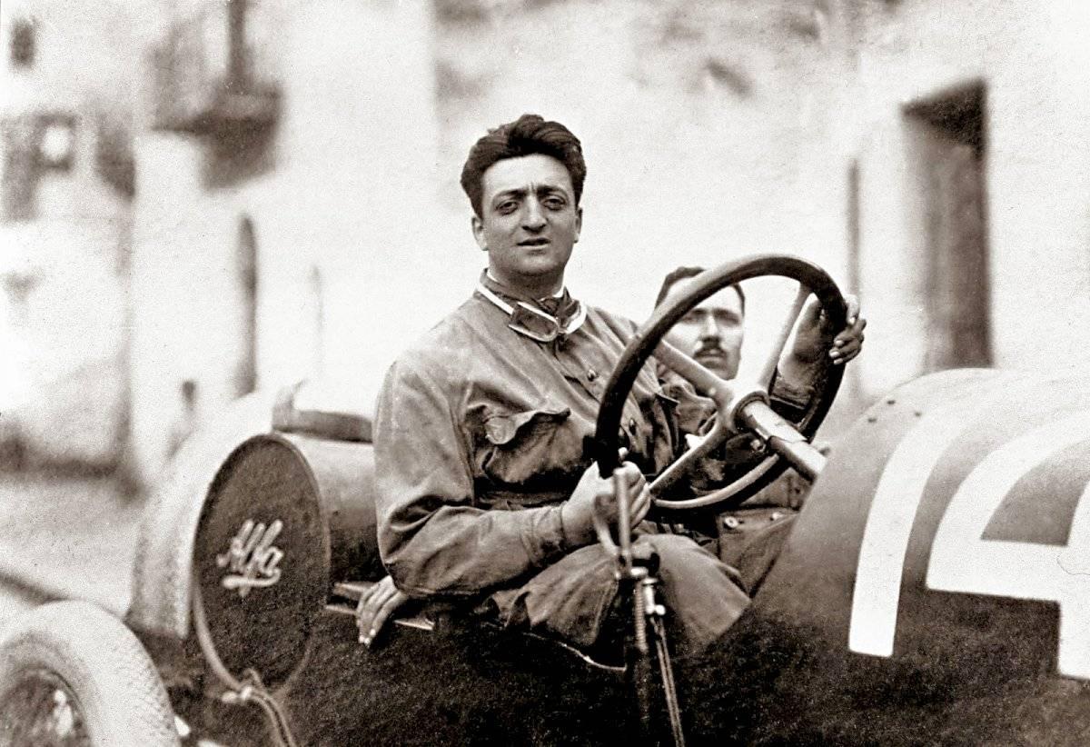 Enzo Ferrari en el Targa Florio 1920