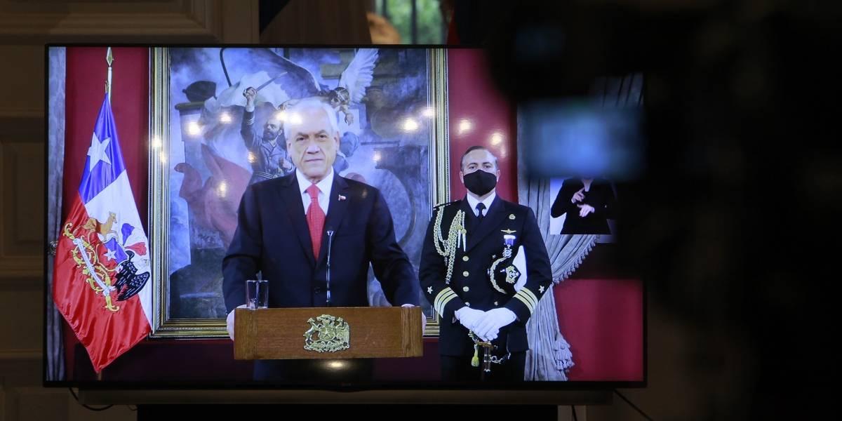 Piñera parafrasea a Arturo Prat en el día de las Glorias Navales por la pandemia