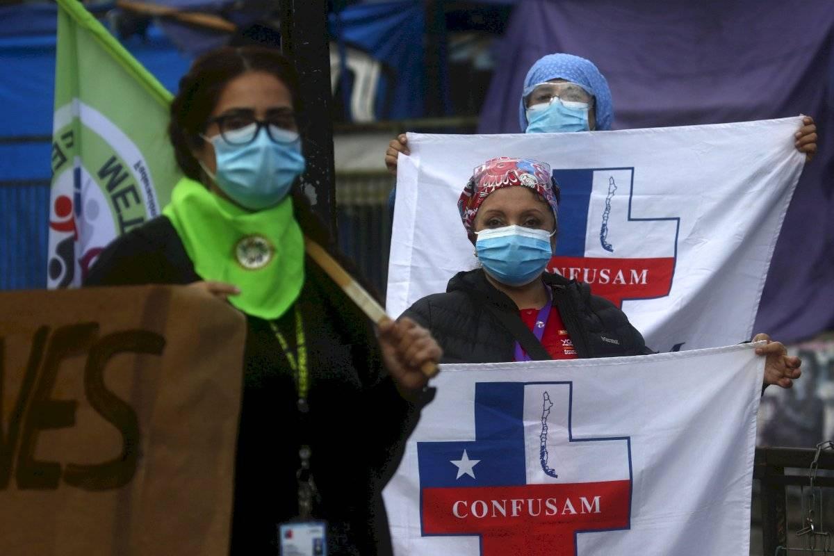 Protestas funcionarios de la Salud