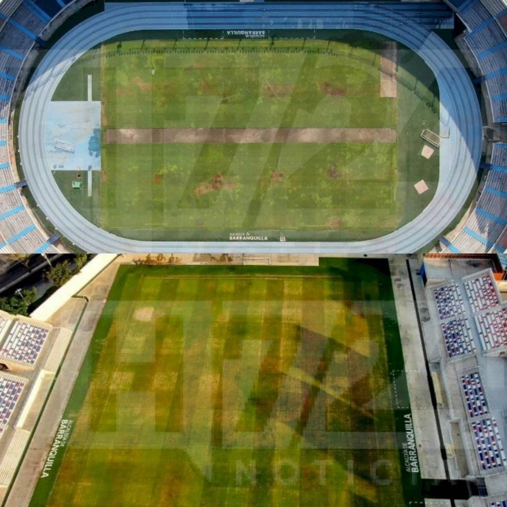 cancha del Estadio Metropolitano de Barranquilla en mayo del 2020