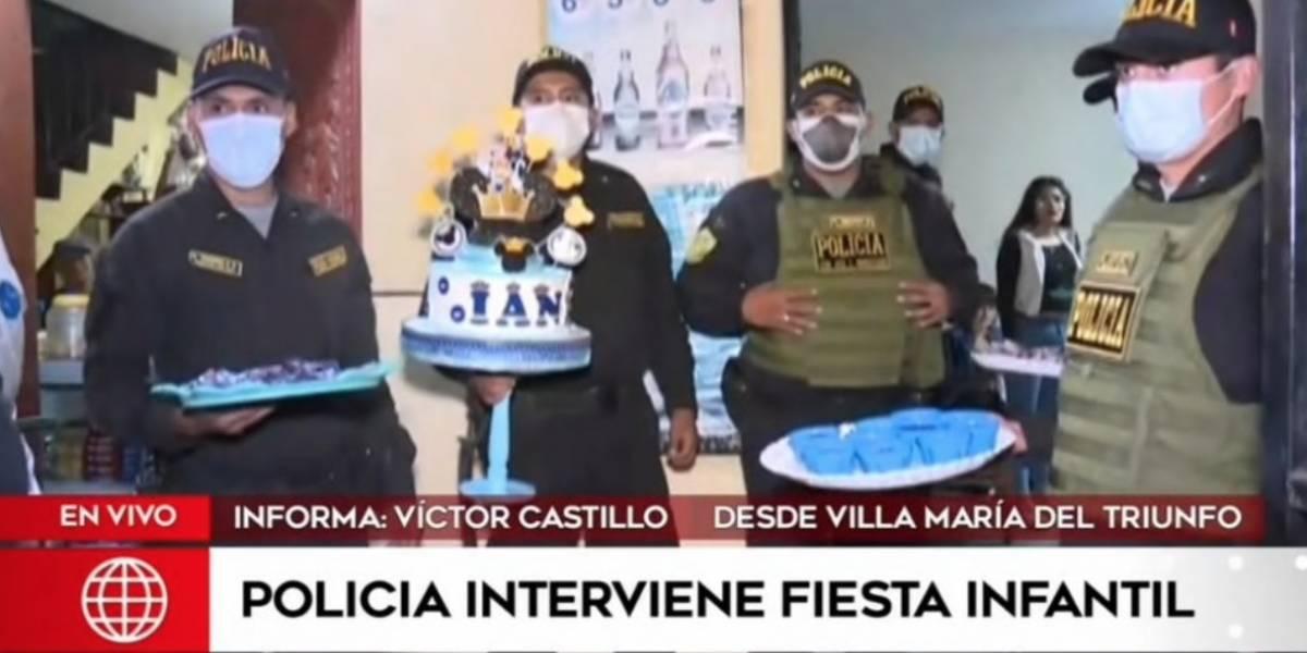 Increíble: policía interviene fiesta de niños de 12 años en plena cuarentena