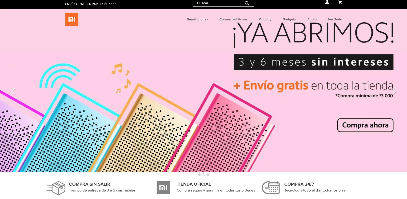 Xiaomi tienda en línea México