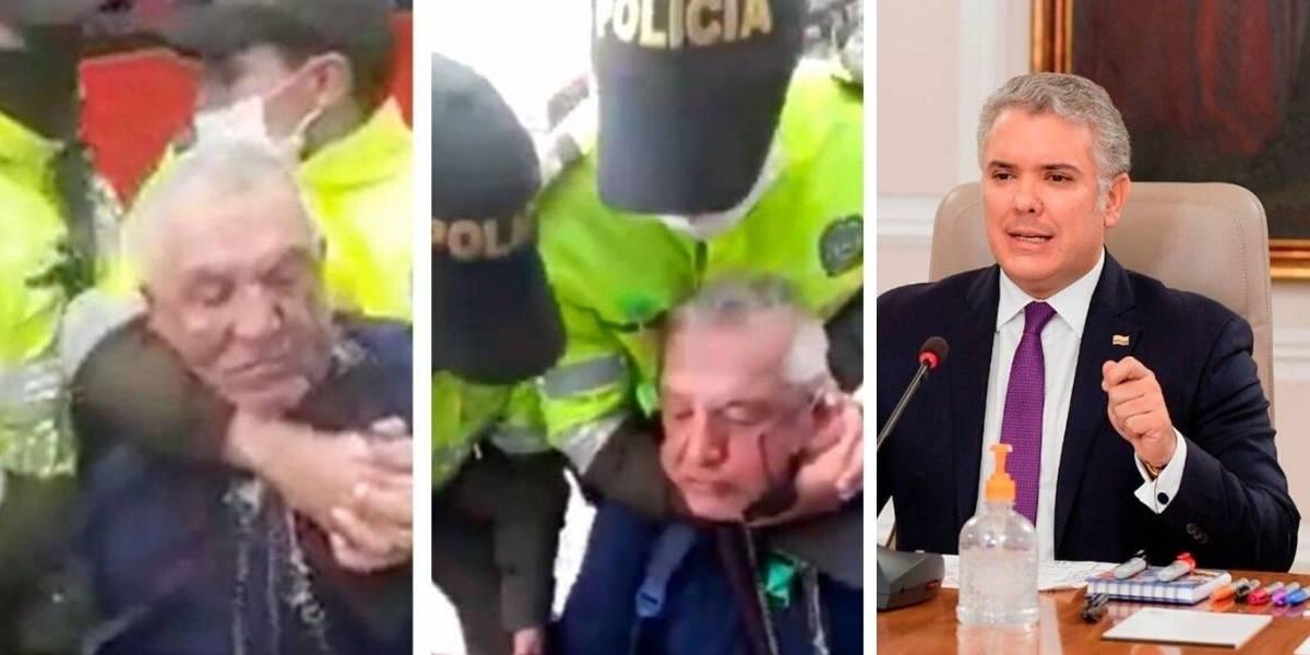 Presidente Duque rechazó fuerte agresión de la que fue víctima un adulto mayor