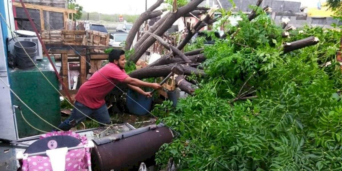 FOTOS: Los estragos que dejó una fuerte tormenta en Nuevo Laredo