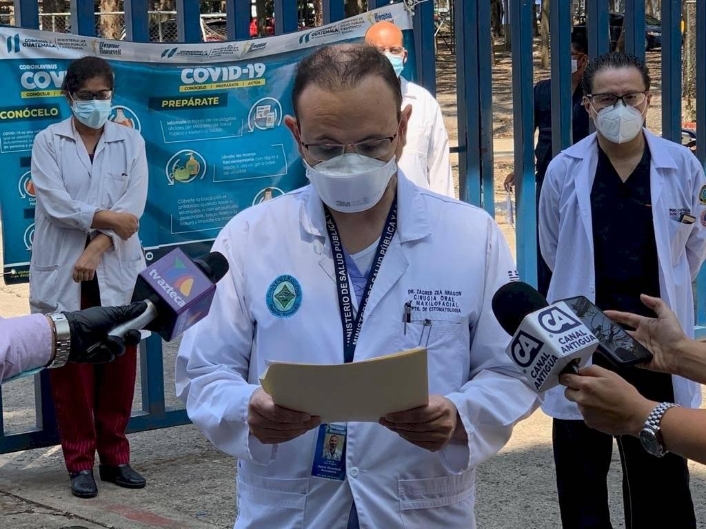 médicos del hospital Roosevelt piden traslado de pacientes con coronavirus