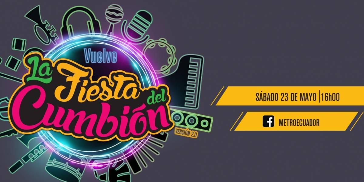 El Cumbión 2.0 será transmitido por la cuenta de Facebook de Metro este sábado a partir de las 16h00