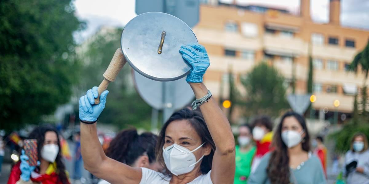 España.- Gobierno recalca a quienes protestan contra él que hay libertad para manifestarse pero no para contagiar
