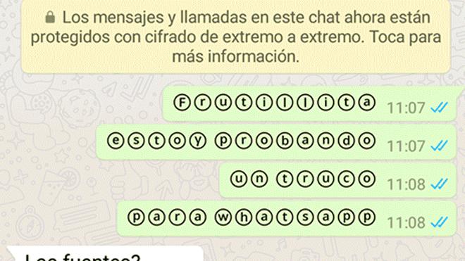 WhatsApp: esta es la forma en que puedes mandar texto en burbuja y sorprender a tus amigos