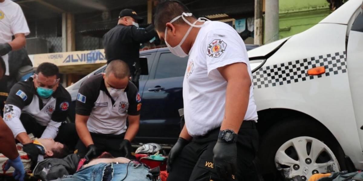 Accidentes de tránsito en zonas 1 y 8 dejan un muerto y cuatro heridos