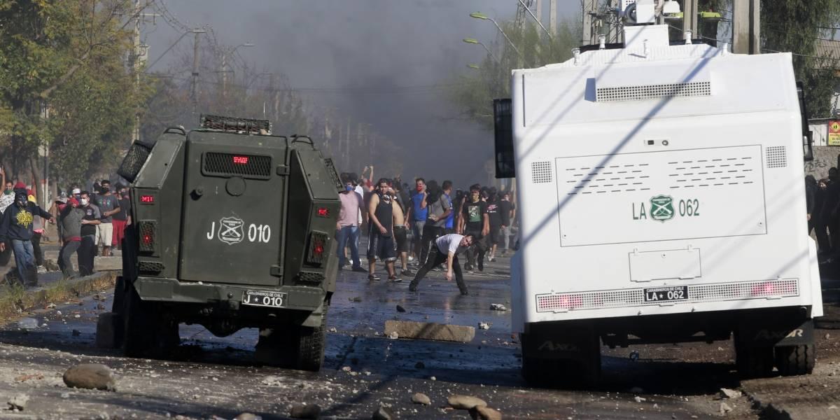 Carabinero resultó herido a bala en nuevos incidentes: ahora en la comuna de Cerrillos