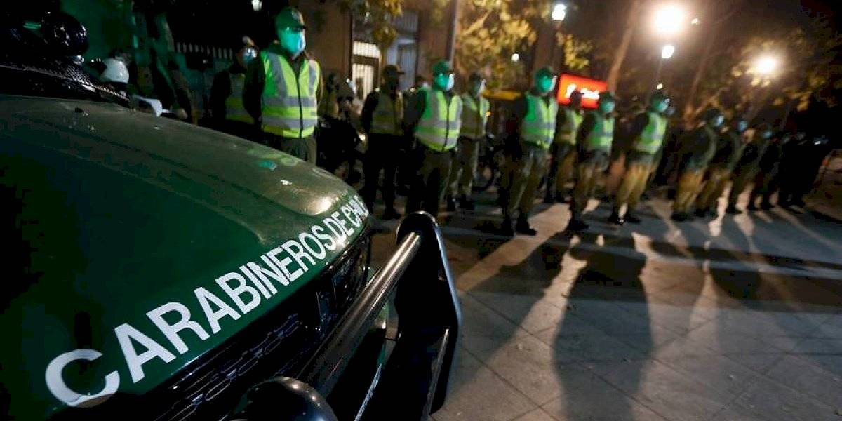 Baja, pero poco: Carabineros informó que 628 personas fueron retenidas por no respetar el toque de queda
