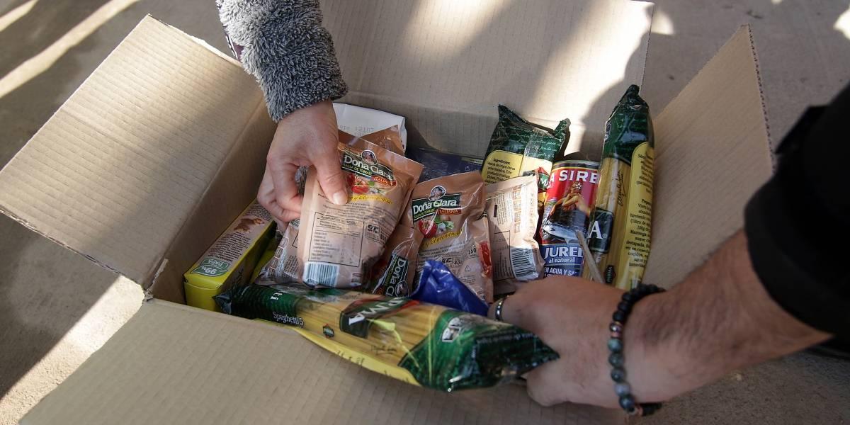 Cajas de alimentos del gobierno se quedaron sin legumbres