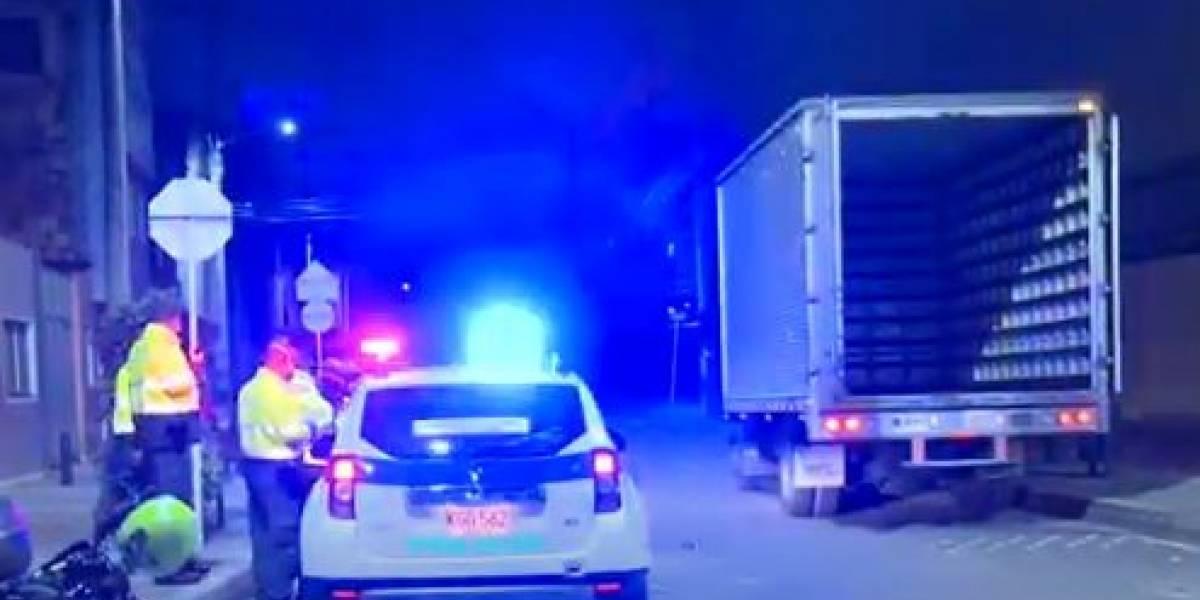 Delincuentes se roban 100 millones de pesos de un camión en Bogotá