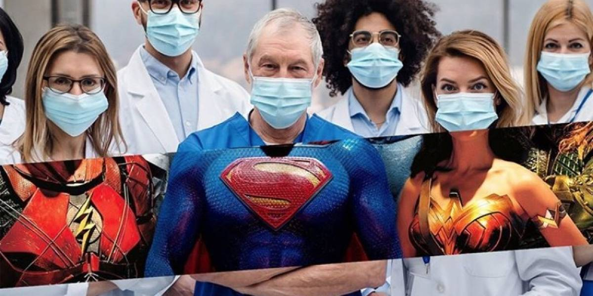 Trabajadores médicos lucen como intrépidos superhéroes