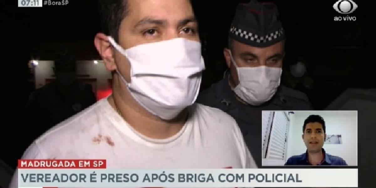 Vereador da Bahia embriagado é detido após agredir policial em SP