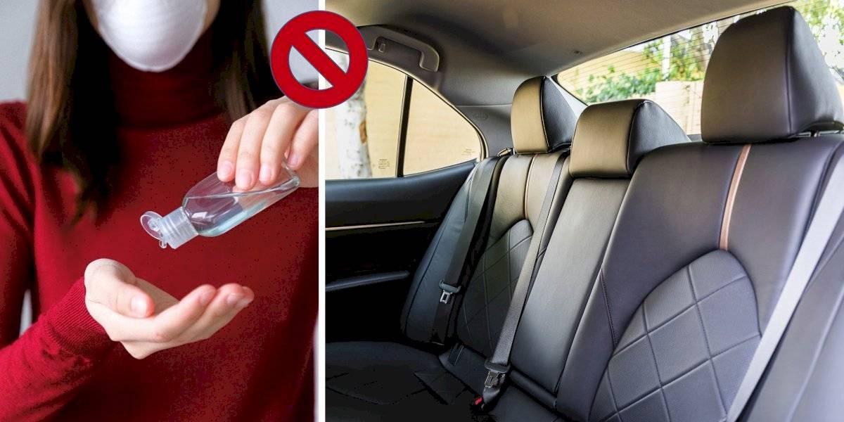 ¡Cuidado! El gel antibacterial puede explotar y reducir efectividad si lo dejas en el auto