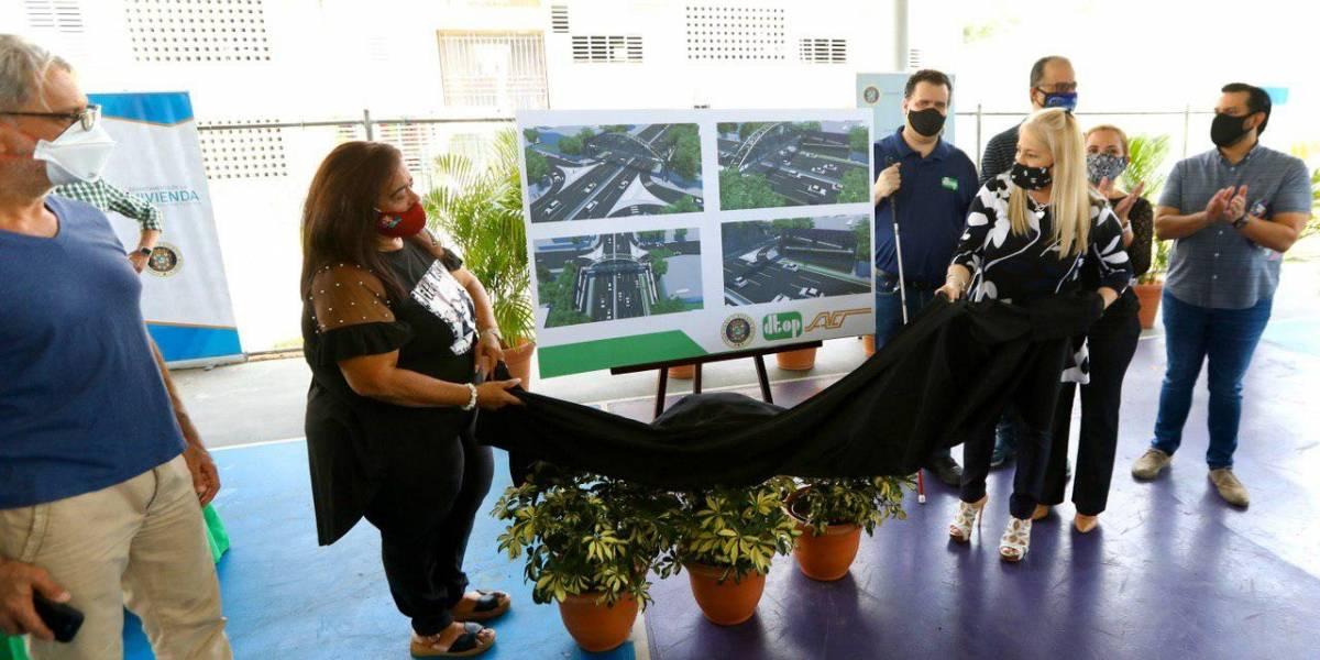 Gobernadora anuncia construcción de puente peatonal sobre expreso de Trujillo Alto