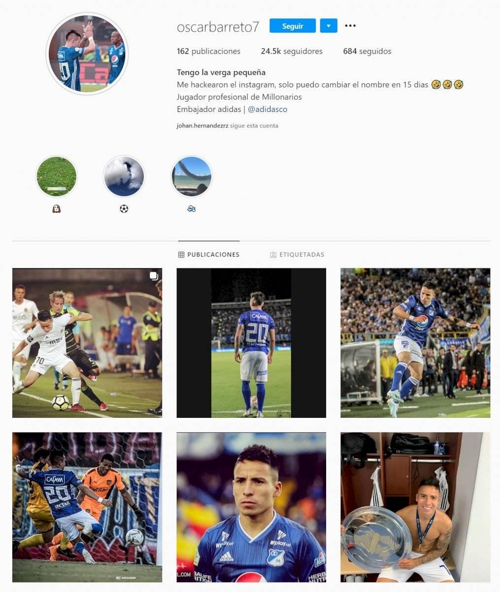 A Óscar Barreto le cambiaron el nombre de su cuenta de Instagram