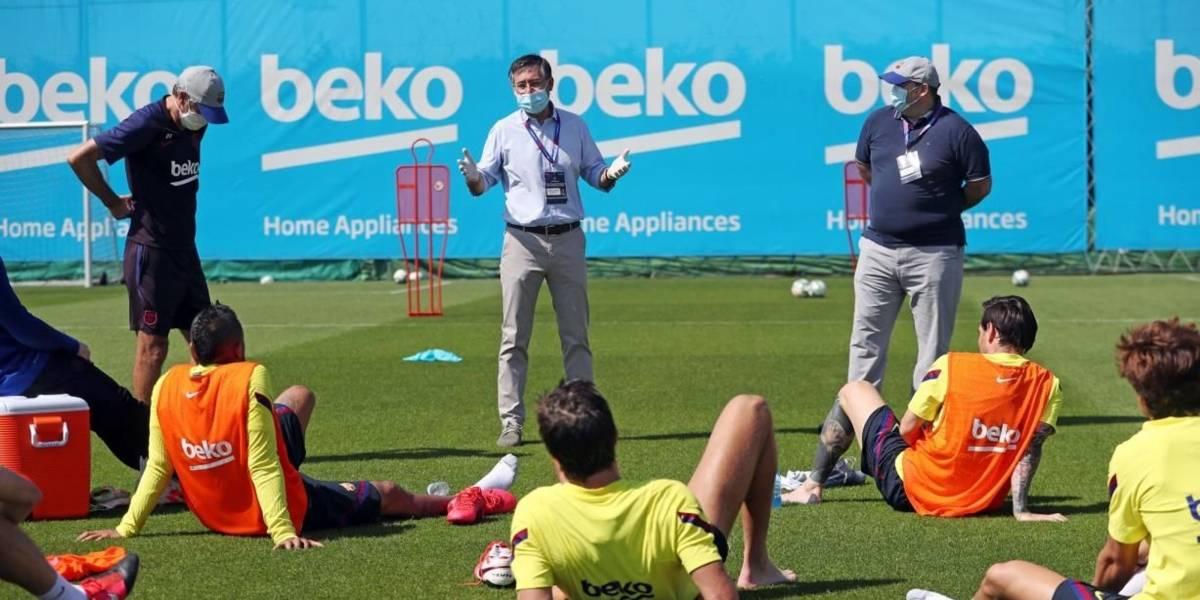 Fútbol.- Bartomeu se reúne con la plantilla en la Ciudad Deportiva