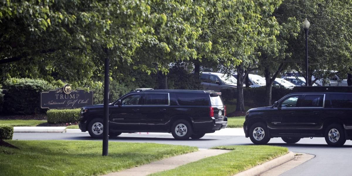 Trump visita su club de golf en Virginia