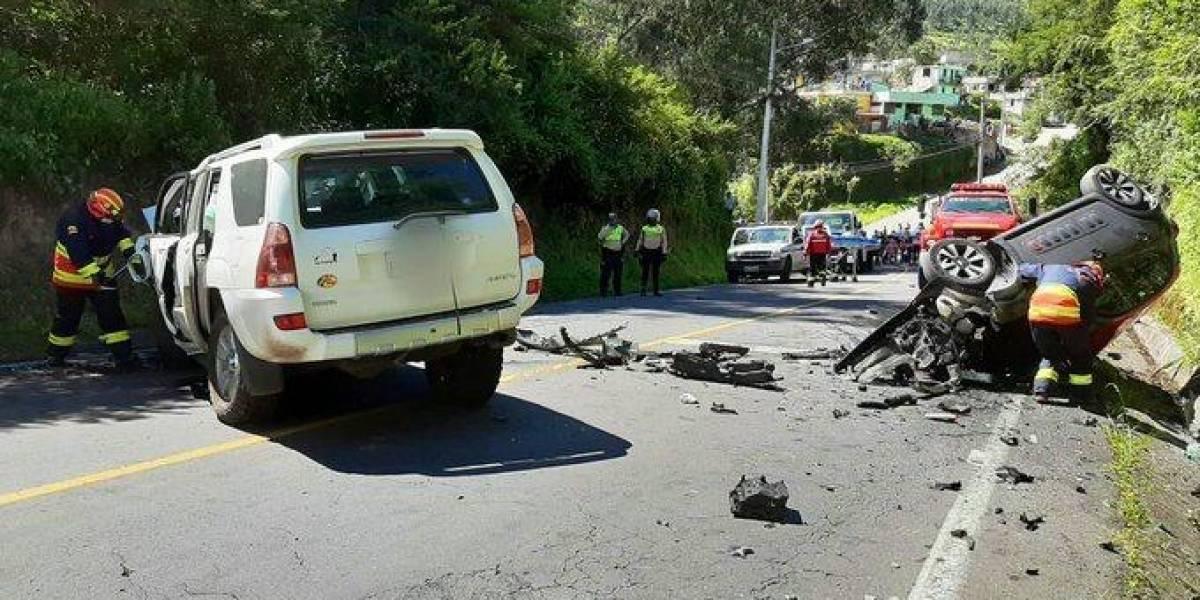 Un fallecido y un herido por accidente de tránsito en el sector de Guangopolo