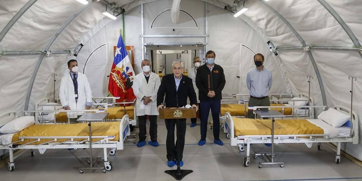 Piñera admitió que la capacidad hospitalaria en Chile está