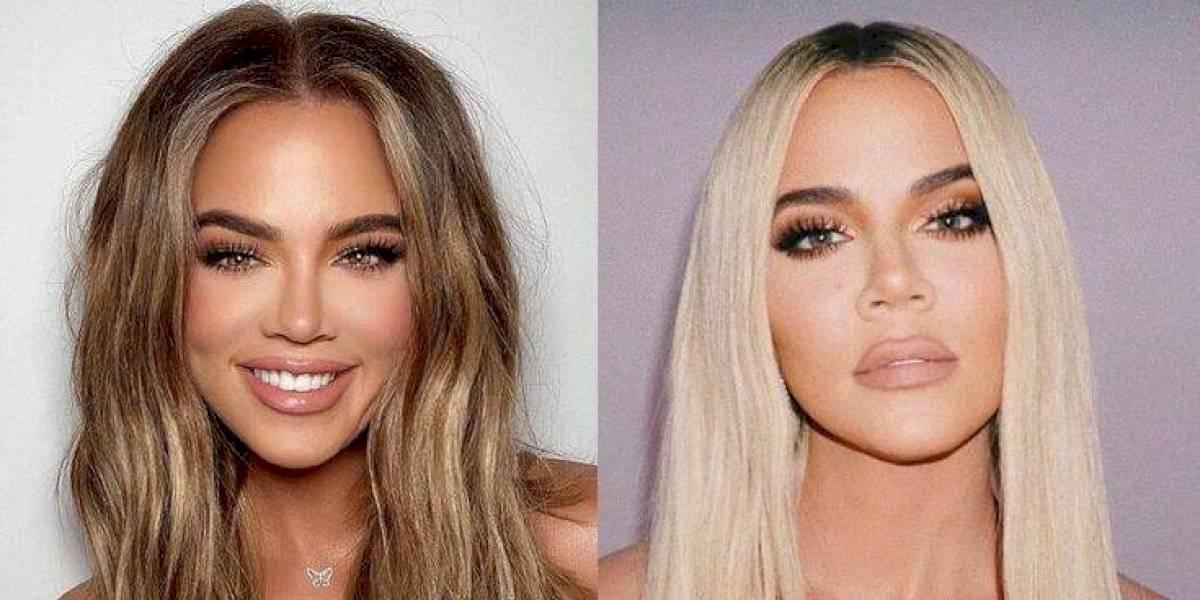 """Khloé Kardashian reaparece y sorprende con su look y nueva cirugía de rostro: """"¿Quién eres?""""Preguntan sus fans"""