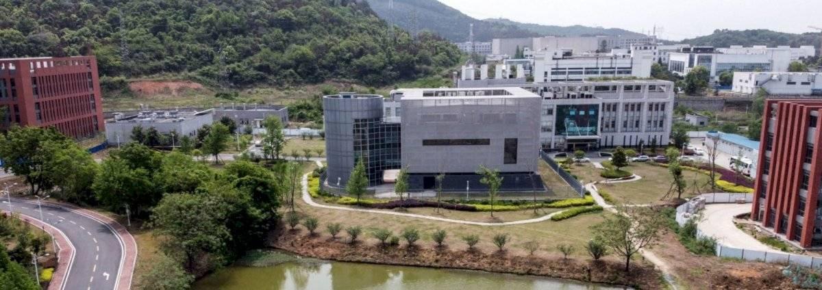 Una vista aérea muestra el laboratorio P4 en el Instituto de Virología de Wuhan en Wuhan, en el centro de Hubei, en China.