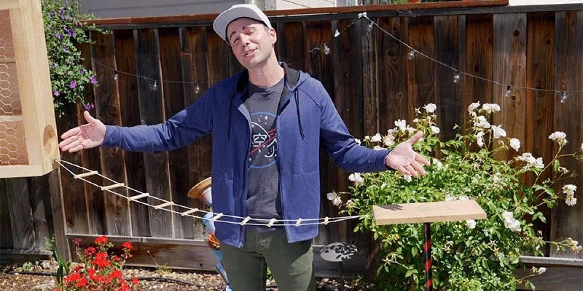 Ex Ingeniero de la NASA crea un circuito de obstáculos para ardillas digno de American Ninja Warrior