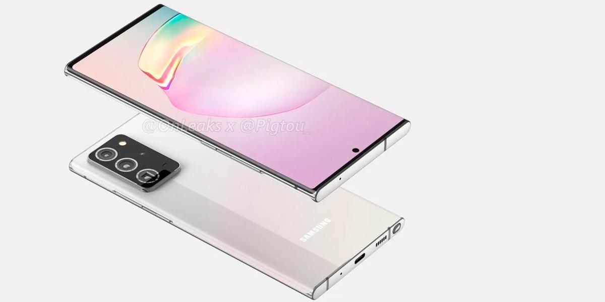 Samsung Galaxy Note 20 Plus se muestra en renders filtrados y resulta demasiado familiar
