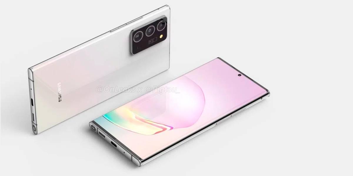 Samsung Galaxy Note 20 Plus se muestra en renders filtrados y resulta algo familiar