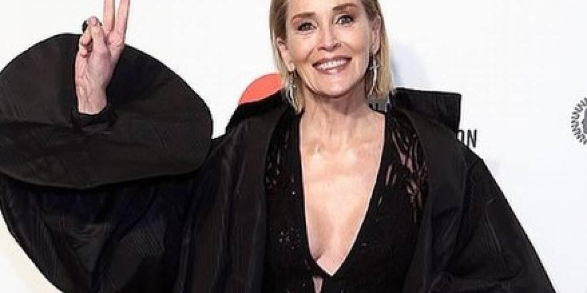 Sharon Stone impacta con su cuerpazo en bikini a los 62 años