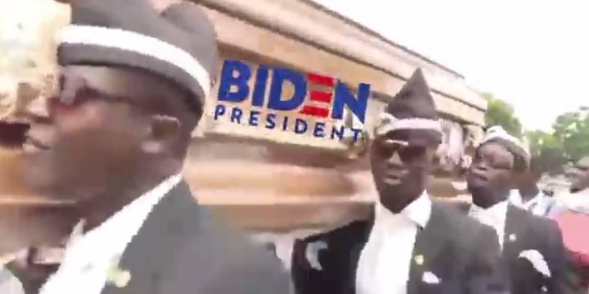 La última locura de Donald Trump: compartió video de los sepultureros de Ghana para burlarse de Joe Biden
