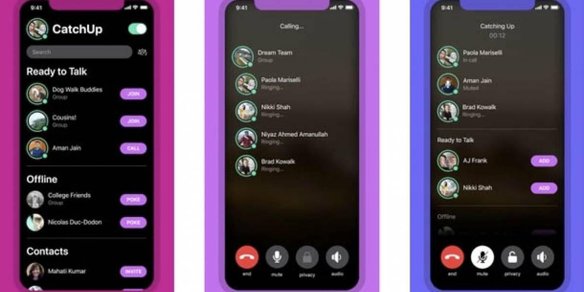CatchUp es la nueva aplicación de Facebook para llamadas de voz
