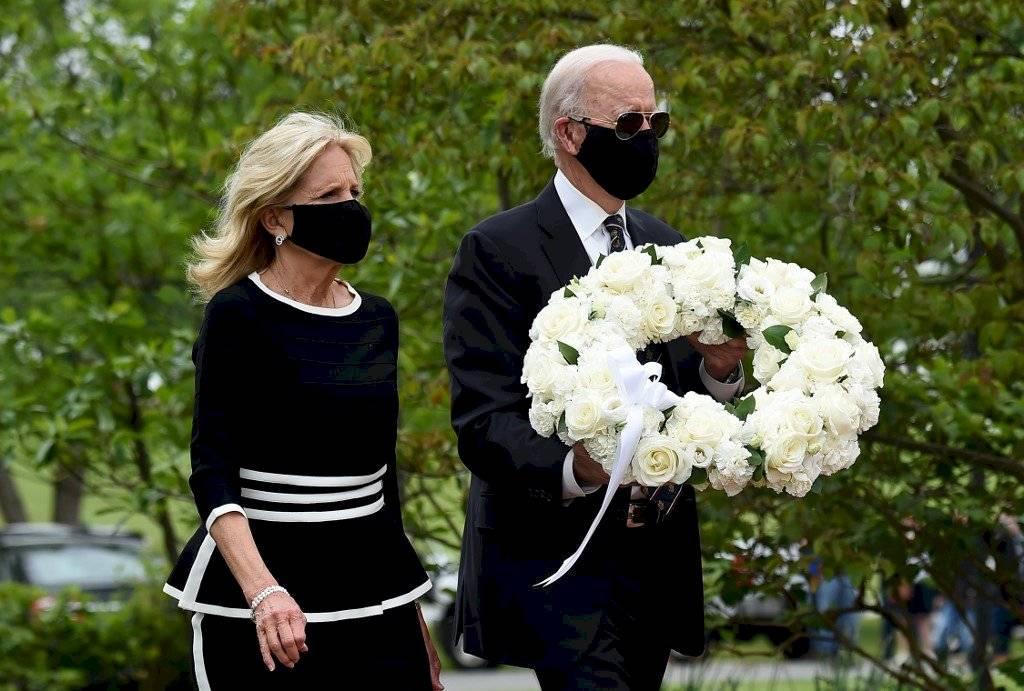 Joe Biden y su esposa