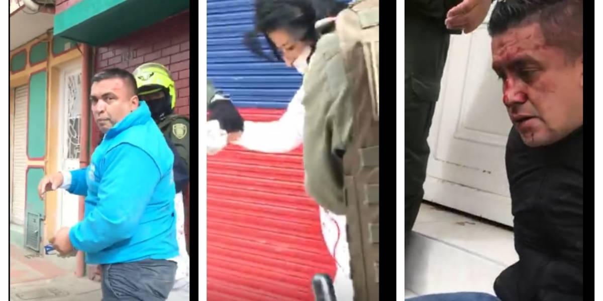 (VIDEO) Vecinos golpearon ladrones que se hicieron pasar por funcionarios del Distrito