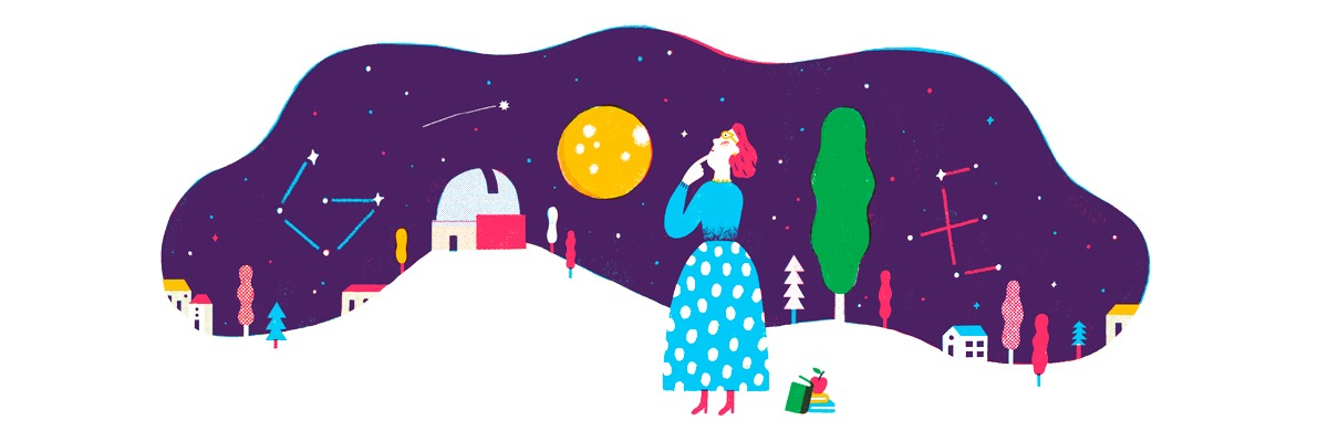 Google rinde tributo a la astrofísica chilena Adelina Gutiérrez con un emotivo Doodle