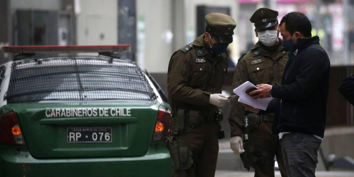 Carabineros efectuó 247 detenciones por no respetar el toque de queda