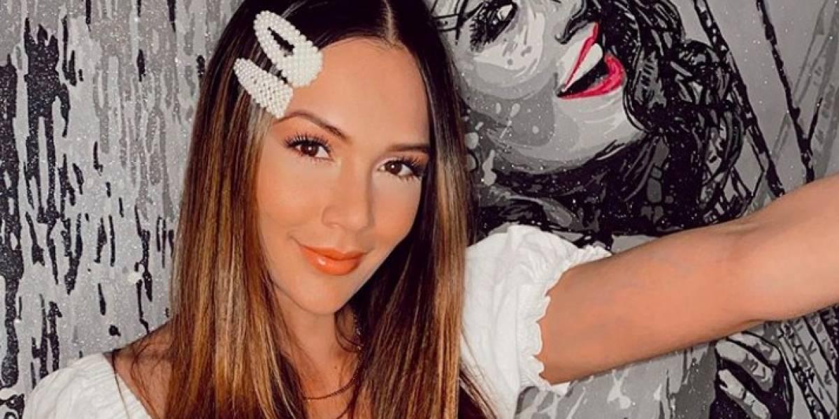 """Lina Tejeiro mostró el """"bigote"""" que le ha crecido en cuarentena"""