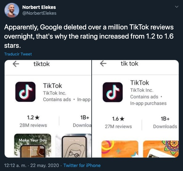 TikTok Youtube Google