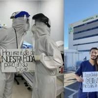 """""""Hoy era el día de nuestra boda"""", la historia de doctores ecuatorianos que luchan contra el COVID-19"""