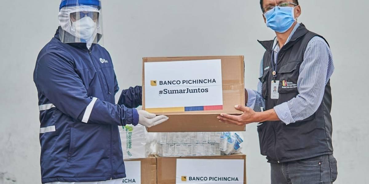 #SumarJuntos de Banco Pichincha ya ha destinado USD 10.4 millones para lucha contra el COVID-19