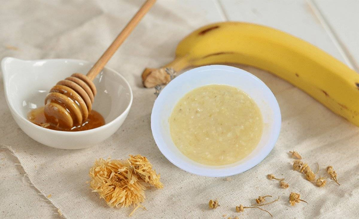 Las mascarilla con plátano, miel y avena es excelente