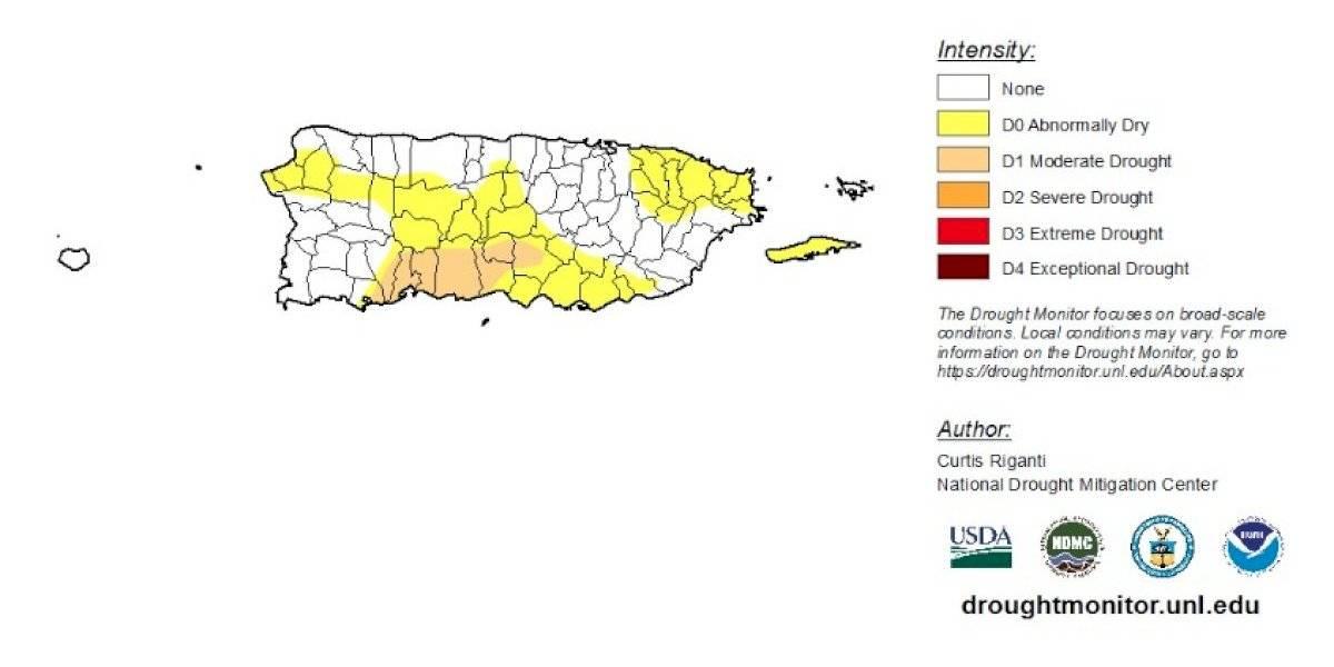 Pueblos en sequía moderada y anómala se mantienen en la última semana