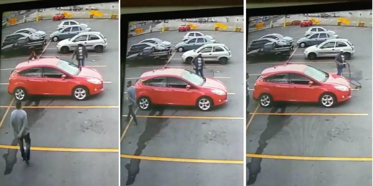 Video de robo en parqueadero de supermercado no sucedió en Ecuador