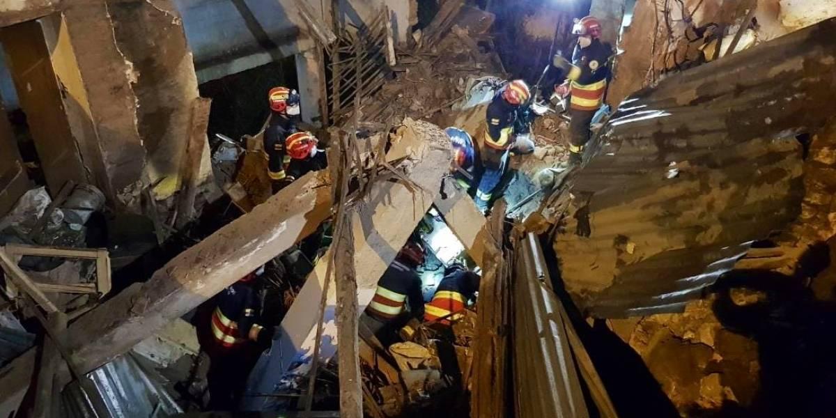 Dos personas fallecieron por colapso estructural en Quito