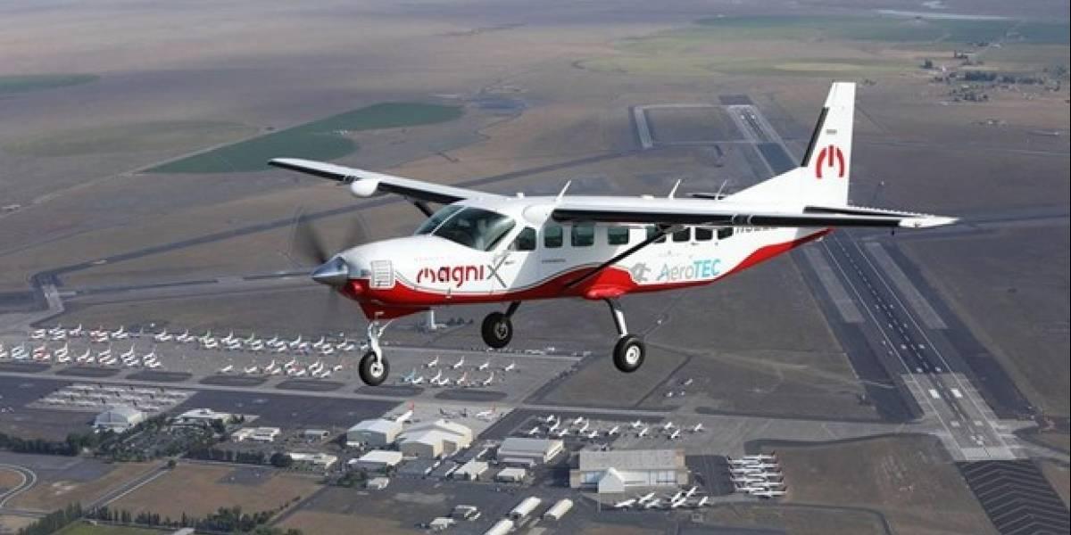 Avión eléctrico más grande del mundo sobrevoló en el aire por treinta minutos