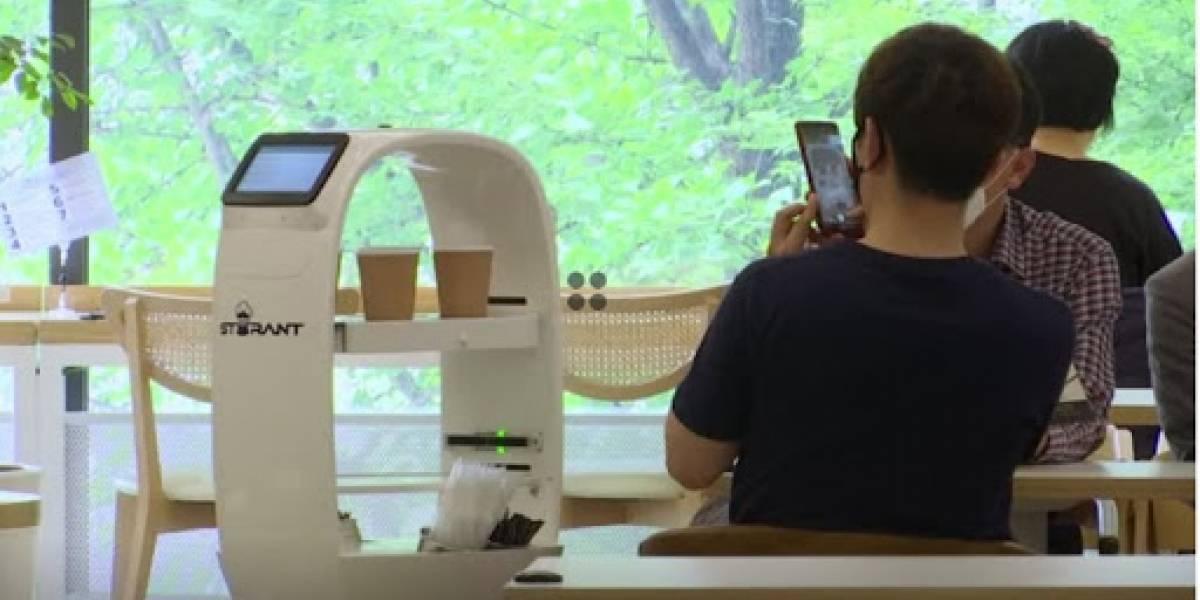Llegó la era de los robots: hay uno barista que sirve café y ayuda a respetar el distanciamiento social