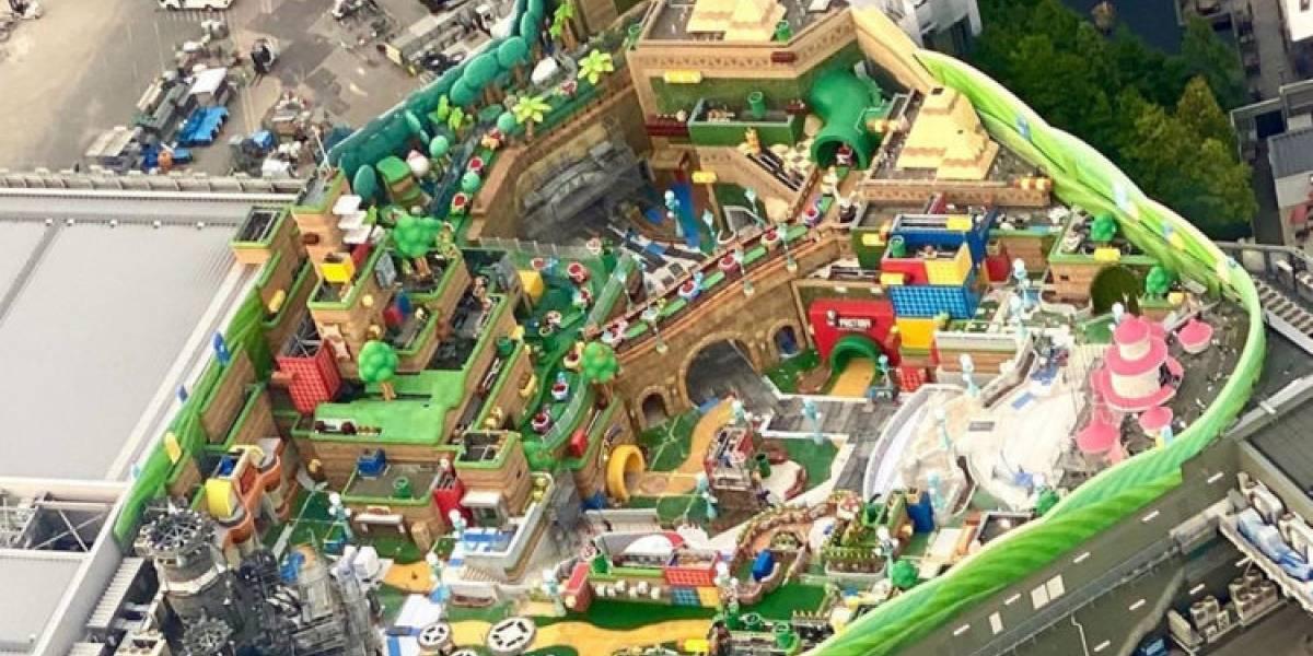 """¡Se filtró una imagen! Así luce el primer parque temático """"Super Nintendo World"""" que se iba a abrir en Japón"""